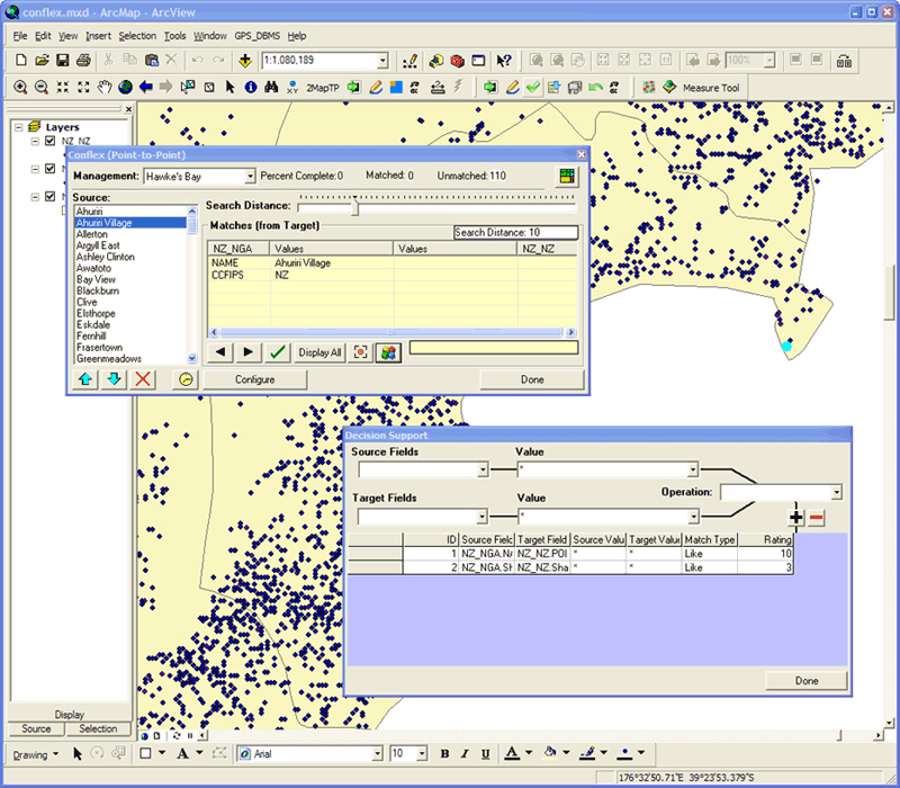 Screenshot of ConfleX software